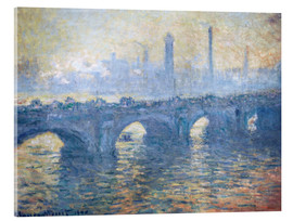 Obraz na szkle akrylowym  River Thames in London, Waterloo Bridge - Claude Monet