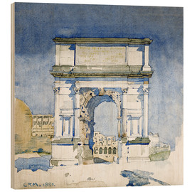 Obraz na drewnie  Arch of the Titus in Rome - Charles Rennie Mackintosh