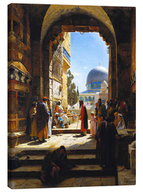 Obraz na płótnie  At the Entrance to the Temple Mount, Jerusalem - Gustave Bauernfeind