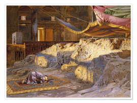 Plakat  Inside the Dome of the Rock - Carl Friedrich Heinrich Werner