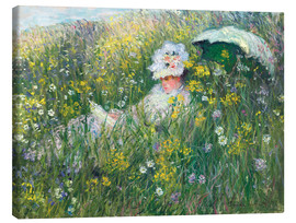 Obraz na płótnie  In the Meadow - Claude Monet