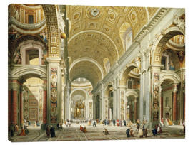 Obraz na płótnie  Interior of St. Peter's Basilica, looking west to the tomb of St. Peter's - Giovanni Paolo Pannini