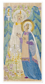 Plakat The Annunciation, Glasgow School Embroidery, 1910