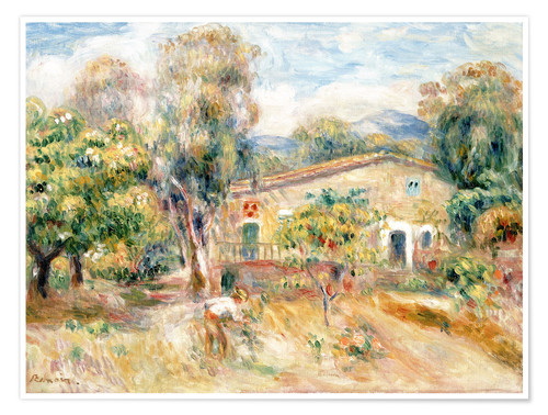 Plakat Collette's farmhouse, Cagnes
