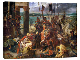 Obraz na płótnie  The conquest of Constantinople by the crusaders - Eugene Delacroix