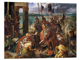 Obraz na PCV  The conquest of Constantinople by the crusaders - Eugene Delacroix