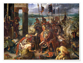 Plakat  The conquest of Constantinople by the crusaders - Eugene Delacroix