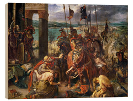 Obraz na drewnie  The conquest of Constantinople by the crusaders - Eugene Delacroix