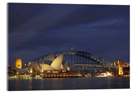 Obraz na szkle akrylowym  Sydney Opera and Harbor Bridge - David Wall
