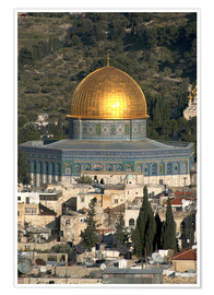 Plakat  Jerusalem and the Dome of the Rock - David Noyes