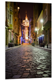 Obraz na PCV  The famous Galata-Tower at night (Istanbul/Turkey) - gn fotografie
