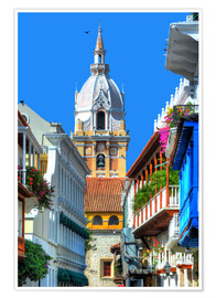 Plakat  Church in Cartagena, Colombia - HADYPHOTO