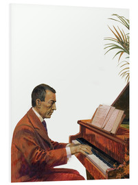 Obraz na PCV  Rachmaninoff playing the piano - Andrew Howat