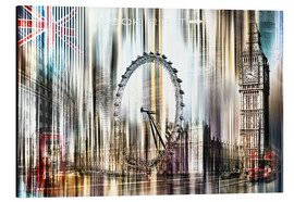 Obraz na aluminium  London Skyline Collage blue Sky - Städtecollagen