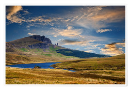 Plakat Scotland - Old Man of Storr at the isle of Skye