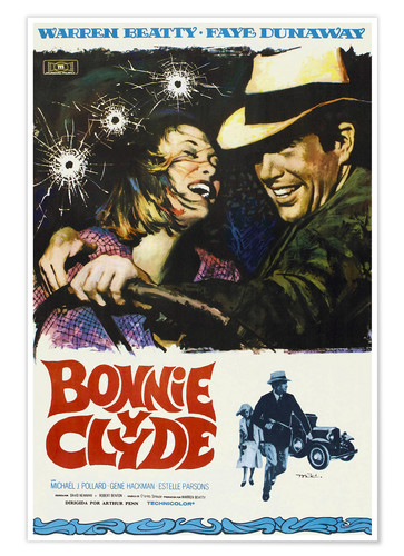 Plakat BONNIE AND CLYDE, on Spanish
