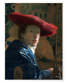 Plakat Girl with red hat