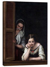 Obraz na płótnie  Women from Galicia at the window - Bartolome Esteban Murillo