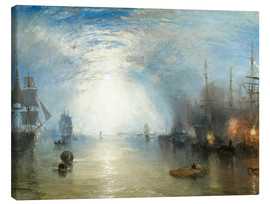 Obraz na płótnie  Keelmen Heaving in Coals by Moonlight - Joseph Mallord William Turner