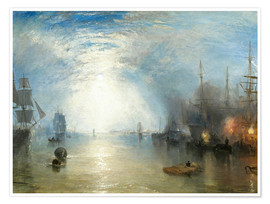 Plakat Keelmen Heaving in Coals by Moonlight