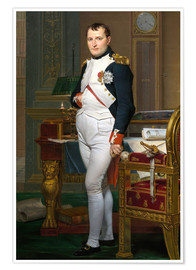 Plakat Napoleon in his study at the Tuileries