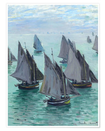 Plakat Fishing boats in calm weather