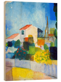 Obraz na drewnie  The bright house (first version) - August Macke