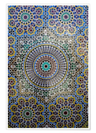 Plakat Mosaic wall of a fountain