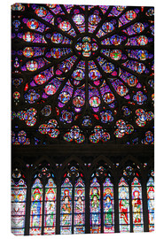 Obraz na płótnie  Stained glass windows of Notre-Dame Cathedral. - Kymri Wilt