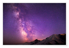 Plakat  Milky way at the violet sky - Gary Luhm