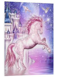 Obraz na PCV  Pink Magic Unicorn - Dolphins DreamDesign