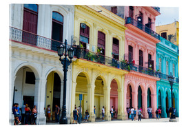 Obraz na szkle akrylowym  Colorful facades in Havana - Bill Bachmann