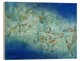 Obraz na drewnie  Fish image - Paul Klee