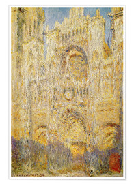 Plakat  Rouen Cathedral, at noon - Claude Monet