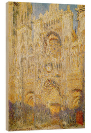 Obraz na drewnie  Rouen Cathedral, at noon - Claude Monet
