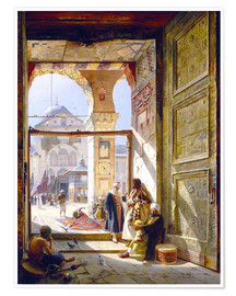 Plakat The gate of the great Umayyad Mosque in Damascus