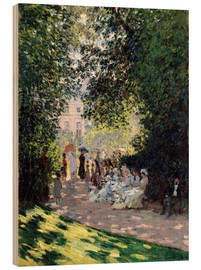 Obraz na drewnie  In the Park Monceau - Claude Monet