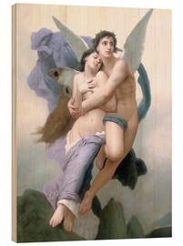 Obraz na drewnie  Abduction of Psyche - William Adolphe Bouguereau
