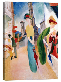 Obraz na płótnie  In front of hat shop - August Macke