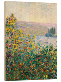 Obraz na drewnie  Flower Beds at Vetheuil - Claude Monet