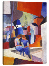 Obraz na płótnie  Children at the docks, Duisburg - August Macke