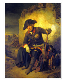 Plakat Friedrich II. After the battle of Kolin