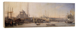 Obraz na drewnie  The Golden Horn, Suleymaniye Mosque and Fatih Mosque - Antoine Léon Morel-Fatio