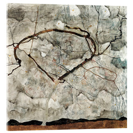 Obraz na szkle akrylowym  Autumn tree in the wind - Egon Schiele