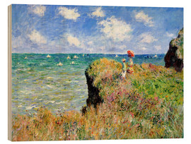Obraz na drewnie  Spacer po klifie w Pourville - Claude Monet