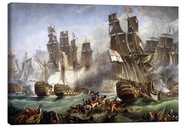 Obraz na płótnie  The Battle of Trafalgar - William Clarkson Stanfield
