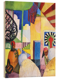 Obraz na drewnie  In the Bazar - August Macke