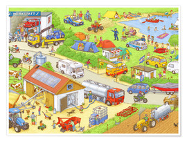 Plakat Cars, search and find: In the countryside