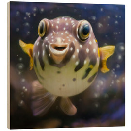 Obraz na drewnie  fugu the bowlfish - Photoplace Creative