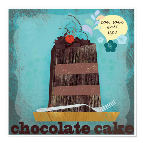 Plakat Chocolate cake